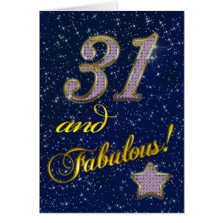 第31誕生日のパーティの招待状 カード