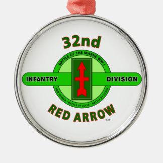 """第32歩兵部隊""""赤い矢"""" メタルオーナメント"""
