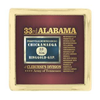 第33アラバマの歩兵(BA2) 金色 ラペルピン