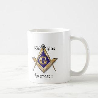 第33程度のフリーメーソン会員の白のマグ コーヒーマグカップ