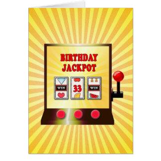 第33誕生日のスロットマシンカード カード