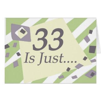 第33誕生日 カード