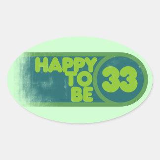 第33誕生日 楕円形シール