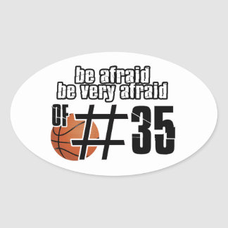 第35バスケットボールのデザイン 楕円形シール
