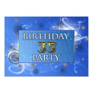 第35抽象芸術ライト誕生日のパーティの招待状 12.7 X 17.8 インビテーションカード