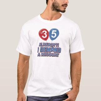 第35歳の誕生日のデザイン Tシャツ