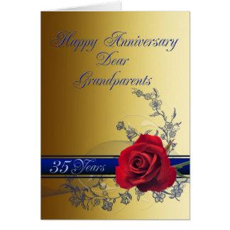 第35祖父母のための記念日カード カード