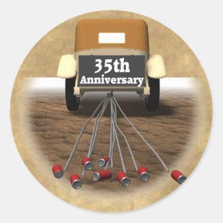 第35結婚記念日のギフト ラウンドシール