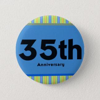 第35結婚記念日のギフト 5.7CM 丸型バッジ