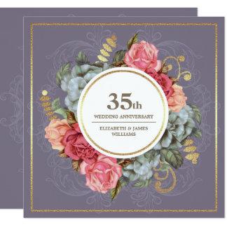第35結婚記念日のパーティの招待状 カード