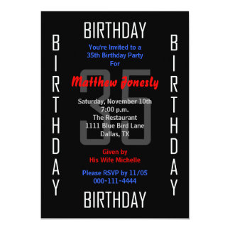 第35誕生日のパーティの招待状35 カード