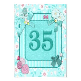 第35誕生日のパーティの招待状 カード
