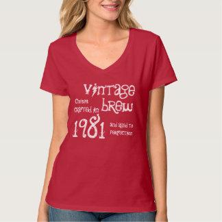 第35誕生日の1981年のヴィンテージの醸造物か年V06 Tシャツ