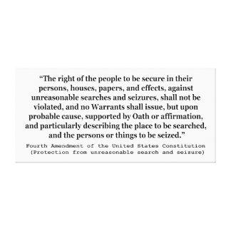 第4アメリカ合衆国憲法の修正 キャンバスプリント