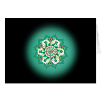 第4チャクラの信念の精神カードへの第4ステップ カード
