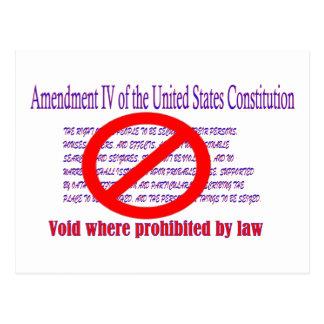 第4修正-法律によって禁止されてところ空間 ポストカード