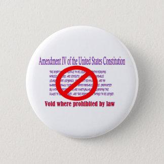 第4修正-法律によって禁止されてところ空間 5.7CM 丸型バッジ