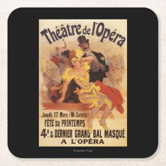 第4劇場de l'Operaの仮装舞踏会 スクエアペーパーコースター