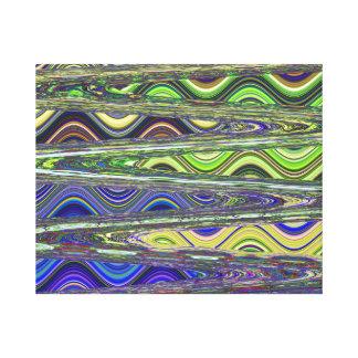 第4宇宙を通って急に方向を変えるジグザグ キャンバスプリント