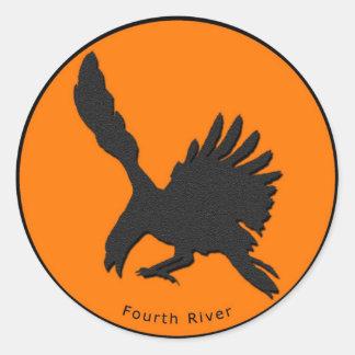 第4川のステッカー ラウンドシール