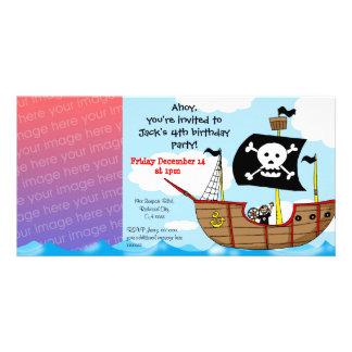 第4海賊誕生日の男の子のパーティの招待状 カード