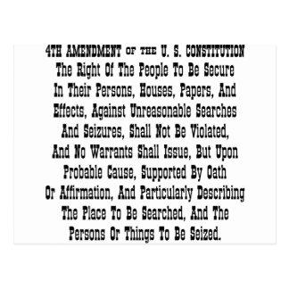 第4米国憲法の修正 ポストカード