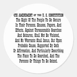 第4米国憲法の修正 ラウンドシール
