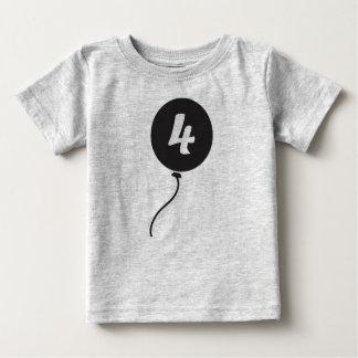 第4誕生日のワイシャツ ベビーTシャツ
