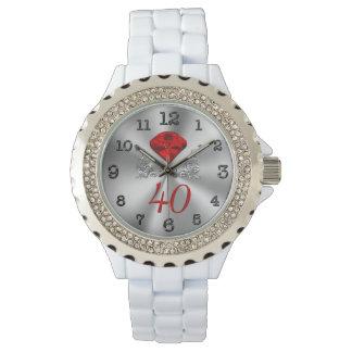 第40彼女のための結婚記念日の腕時計 腕時計