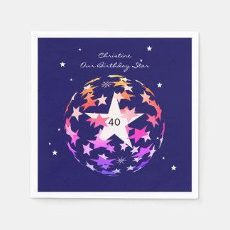 第40星の誕生日の地球 スタンダードカクテルナプキン