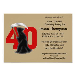 第40死神の誕生日の招待状 カード