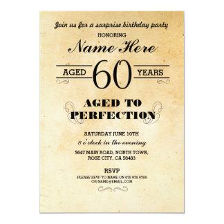 第40第50第60第70年齢の誕生会の招待 カード