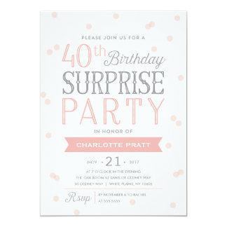 第40紙吹雪の驚きのパーティの招待状 の誕生日 カード