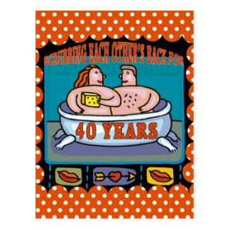 第40結婚記念日のギフト ポストカード