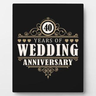 第40結婚記念日 フォトプラーク