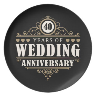 第40結婚記念日 プレート