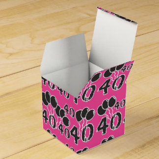 第40誕生会の好意箱-第40 Bday --を飾って下さい フェイバーボックス