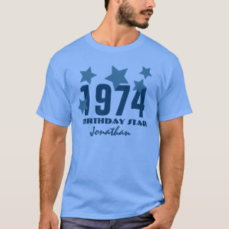 第40誕生日か年1974のブルースターV003 Tシャツ