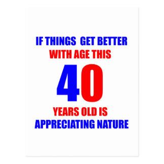第40誕生日のデザイン ポストカード