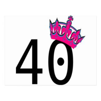 第40誕生日のプリンセス ポストカード