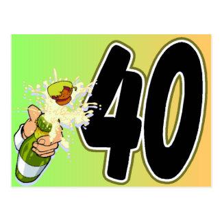 第40誕生日の商品 ポストカード