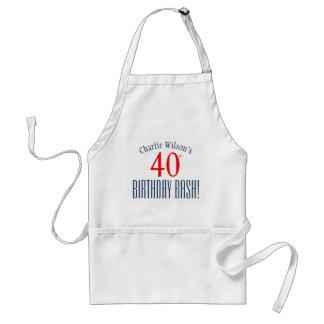 第40誕生日の強打! 誕生会のエプロン スタンダードエプロン