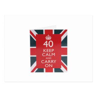 第40誕生日の記念品 ポストカード