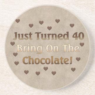 第40誕生日はチョコレートを意味します コースター