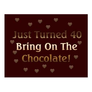 第40誕生日はチョコレートを意味します ポストカード