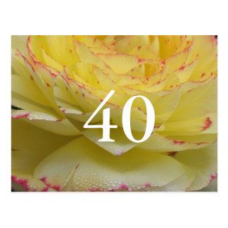 第40誕生日 ポストカード
