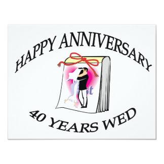 第40。 結婚記念日 カード