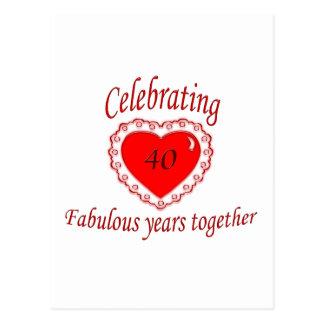 第40。 記念日 ポストカード