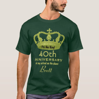 第40 FUNNY V01記念日の誕生日王 Tシャツ