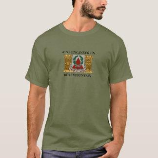 第41エンジニアの大隊第10山のTシャツ Tシャツ